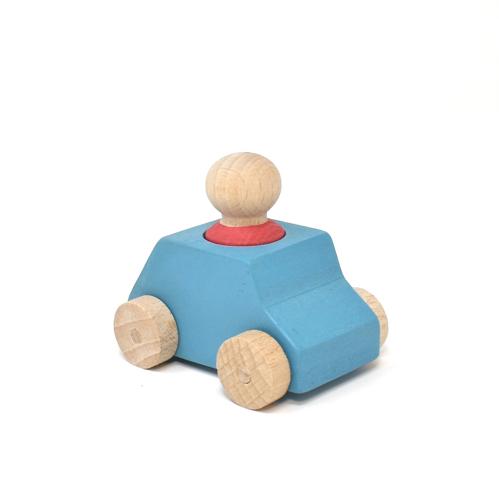 skyblue car and red person lubulona